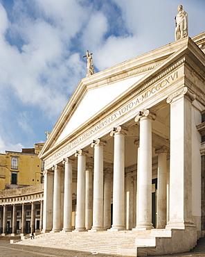 Basilica Reale Pontificia San Francesco da Paola, Naples, Campania, Italy, Europe