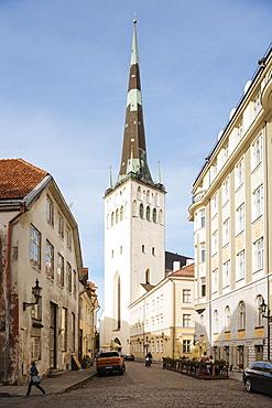 Exterior of St. Olaf's church, Old Town, UNESCO World Heritage Site, Tallinn, Estonia, Europe