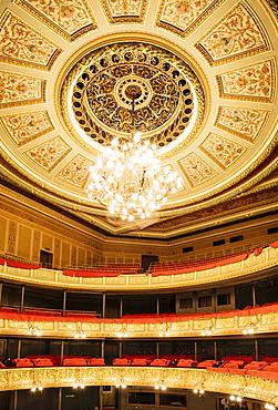 Interior of Latvian National Opera Building, Riga, Latvia, Baltic States, Europe
