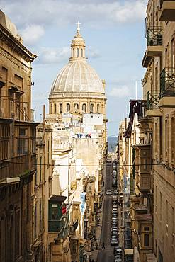View from Old Bakery Street (Triq I-Ifran), Valletta, Malta, Europe