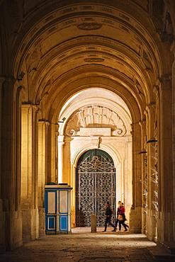National Library of Malta at twilight, Valletta, Malta, Europe