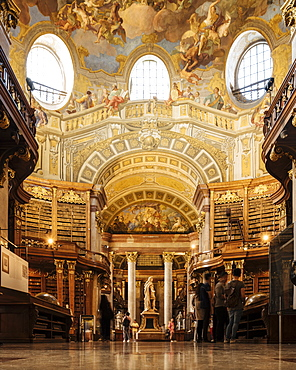 Interior of The Austrian National Library, Vienna, Austria, Europe