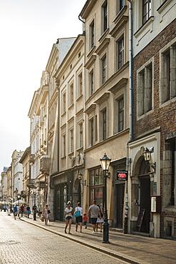 Street scene, Krakow, Malopolskie, Poland, Europe