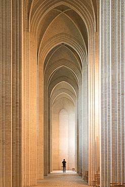 Interior of Grundvigs Church, Bispebjerg, Copenhagen, Denmark, Scandinavia, Europe