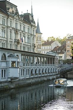 Ljubljanica Canal, Old Town, Ljubljana, Slovenia, Europe
