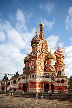 Exterior of St. Basil's Cathedral, Red Square, UNESCO World Heritage Site, Moscow, Moscow Oblast, Russia, Europe