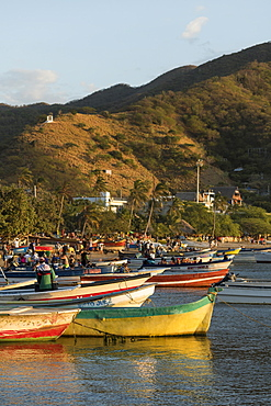 Fishing boats, Taganga, Magdalena Department, Caribbean, Colombia, South America