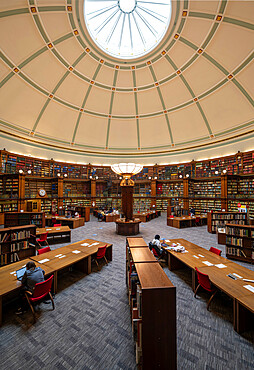 Interior of Central Library, St. George's Quarter, Liverpool, Merseyside, England, United Kingdom, Europe