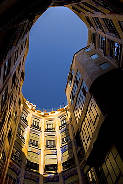 Casa Mila, UNESCO World Heritage Site, Barcelona, Catalonia, Spain, Europe