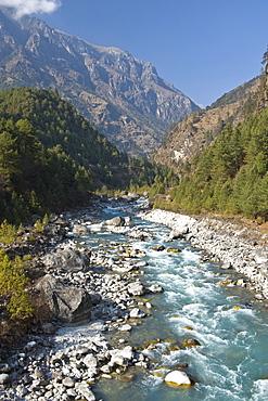 Dudh Kosi River, Solu Khumbu Region, Nepal, Himalayas, Asia