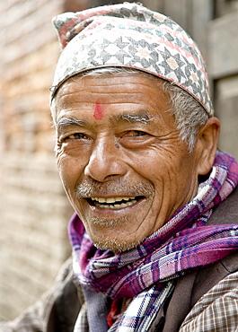 Portrait of Krishna Bharadhe, Bhaktapur, Nepal, Asia