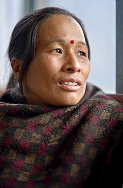 Portrait of Kanchhi Gurung, Sinuwa, Annapurna Himal, Himalaya, Nepal, Asia