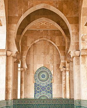 Interior of Hassan II Mosque, Casablanca, Morocco, Africa