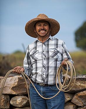 Portrait of Tomas, Rancho Xotolar, San Miguel de Allende, Guanajuato, Mexico, North America