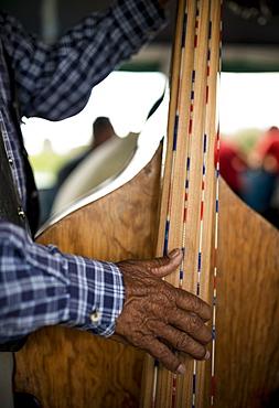 Musicians on boat to Isla Janitzio, Michoacan, Mexico, North America