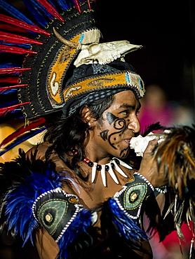 Encuento Nacional de Danza Mexica Cultural Show, Cholula, Puebla State, Mexico, North America