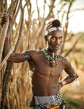 Portrait of Sabe, Hamar Tribe, Omo Valley, Ethiopia, Africa