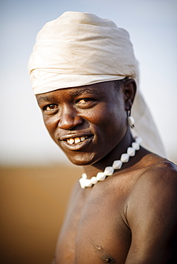 Portrait of Nakabel, Dassanech Tribe, Salany Village, Omorate, Omo Valley, Ethiopia, Africa