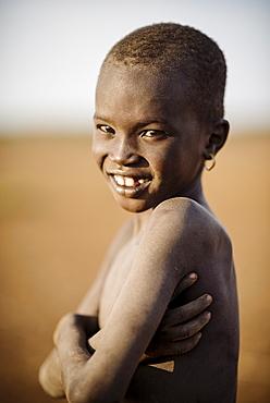 Portrait of Longiro, Dassanech Tribe, Salany Village, Omorate, Omo Valley, Ethiopia, Africa