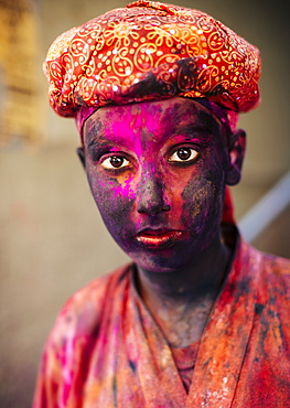 Holi Festival Celebrations in Mathura, Braj, Uttar Pradesh, India, Asia