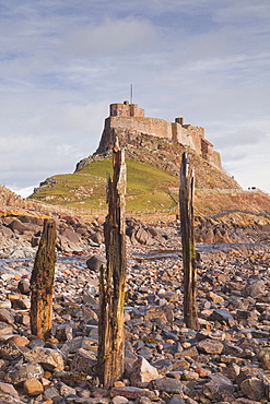 Lindisfarne Castle on Holy Island, Northumberland, England, United Kingdom, Europe