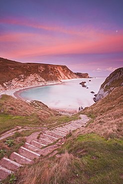 Man Of War cove on the Jurassic Heritage coastline. It is protected by UNESCO as a World heritage site.