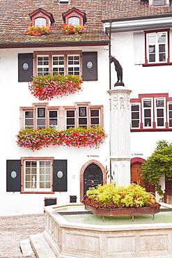 Street scene in Basel, Switzerland, Europe