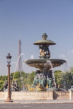 Place de la Concorde and The Eiffel Tower, Paris, France, Europe