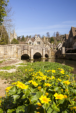 The beautiful Wiltshire village of Castle Combe, Wiltshire, England, United Kingdom, Europe