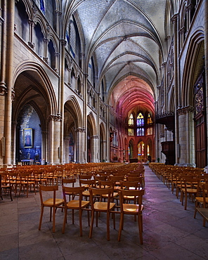 The Cathedral of Saint-Cyr-et-Sainte-Julitte de Nevers, Burgundy, France, Europe