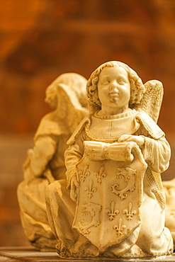 Beautiful carvings adorning the tomb of the Children of France (Tombeau des Enfants de France) in Saint Gatien cathedral, Tours, Indre et Loire, Centre, France, Europe
