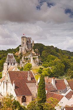 The castle and village of Lavardin in the Loire Valley, France, Europe