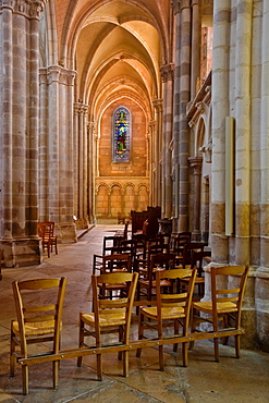 The interior of Eglise Saint Martin de Clamecy in the town of Clamecy, Burgundy, France, Europe
