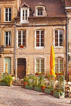 An old house and restaurant in Autun, Burgundy, France, Europe