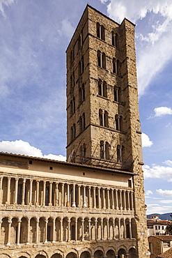 The church of Santa Maria della Pieve, Arezzo, Tuscany, Italy, Europe