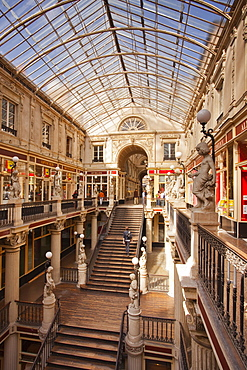 The Passage Pommeray shopping area in the city of Nantes, Loire-Atlantique, France, Europe
