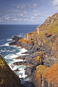 The Crown Engine Houses near Botallack, UNESCO World Heritage Site, Cornwall, England, United Kingdom, Europe