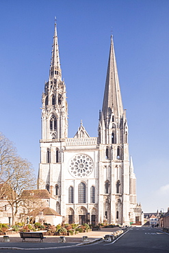 The gothic Chartres cathedral, UNESCO World Heritage Site, Chartres, Eure et Loir, Centre, France, Europe