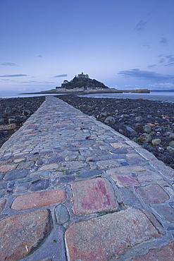 St. Michael's Mount near to Marazion at dawn, Cornwall, England, United Kingdom, Europe