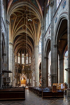 The interior of Votivkirche Church in Vienna, Austria, Europe
