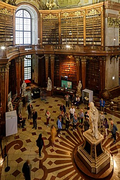 The Austrian National Library in Vienna, Austria, Europe