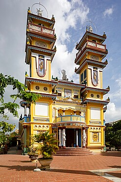 Cao Dai Temple near to Hoi An in central Vietnam, Indochina, Southeast Asia, Asia
