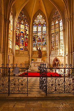 A small chapel inside Vendome Abbey, Loir-et-Cher, Centre, France, Europe
