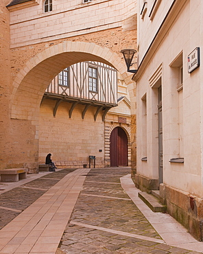 Rue du Musee in Angers, Maine-et-Loire, France, Europe