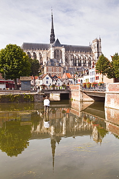 Notre Dame d'Amiens Cathedral, UNESCO World Heritage Site, Amiens, Somme, Picardy, France, Europe