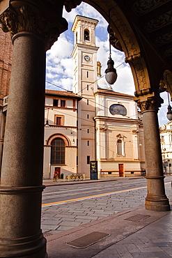 The church of San Tommaso Apostolo, Turin, Piedmont, Italy, Europe