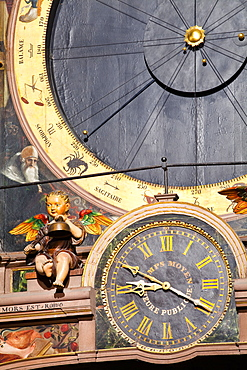 The astronomical clock inside Strasbourg cathedral, Strasbourg, Bas-Rhin, Alsace, France, Europe