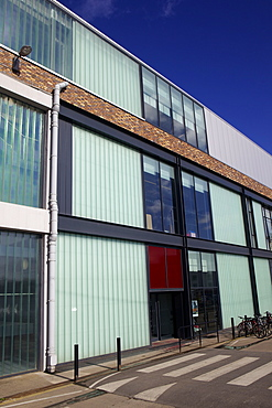 The back of M Shed Museum at Princes Wharf beside the floating harbour (Harbourside) in Bristol, England, United Kingdom, Europe