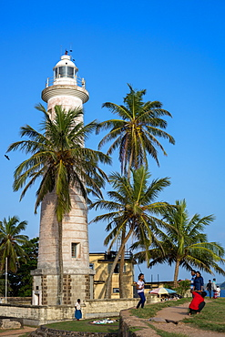 Galle Lighthouse in the historic Galle Fort, Sri Lanka, Asia