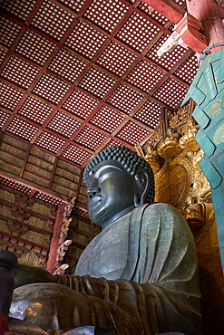 The Great Buddha Hall in the Todaiji Temple, UNESCO World Heritage Site, Nara, Honshu, Japan, Asia